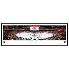 Edmonton Oilers Stadium Center Ice Framed Wall Art