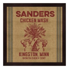 """Chicken Mash"" Framed Wall Art"