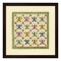 Butterfly Patchwork Framed Wall Art