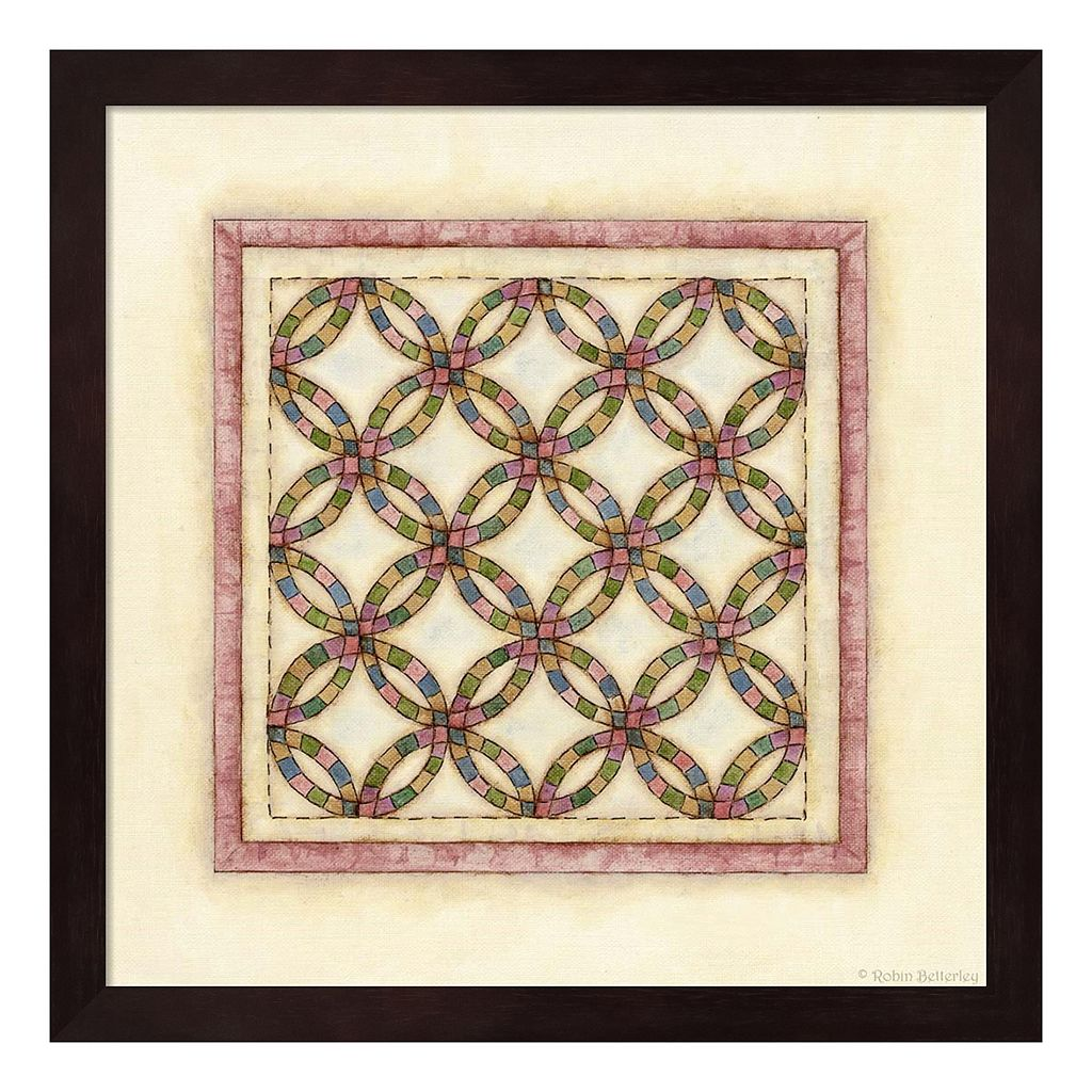 Circle Patchwork Framed Wall Art