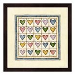 Hearts Patchwork Framed Wall Art