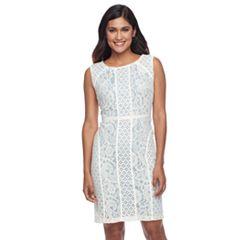 Petite Chaya Lace Overlay Sheath Dress