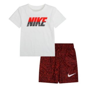 Baby Boy Nike Graphic Tee & Shorts Set