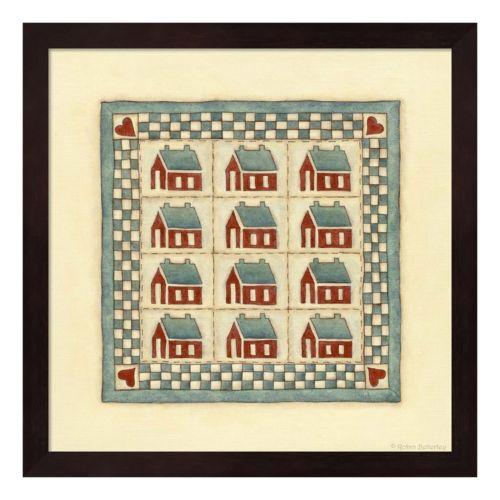 House Patchwork Framed Wall Art