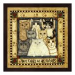 """Love"" Cats Framed Wall Art"