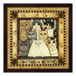 """Love"" Cats Framed Wall Art"