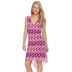 Women's Dana Buchman Abstract Chiffon High-Low Dress