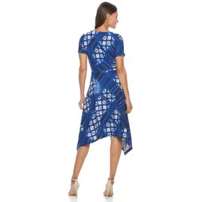 Women's Dana Buchman Printed Shark-Bite Hem Dress