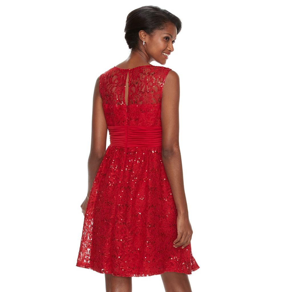 Petite Chaya Lace Fit & Flare Dress