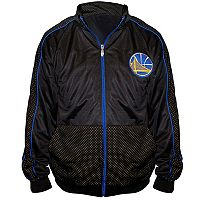 Big & Tall Majestic Golden State Warriors Panel Tricot Track Jacket