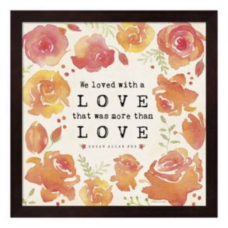 """We Loved"" Framed Wall Art"