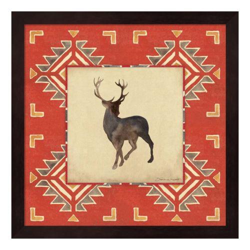 Deer Blanket Framed Wall Art
