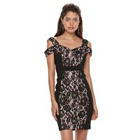 Petite Chaya Lace Cutout-Shoulder Sheath Dress