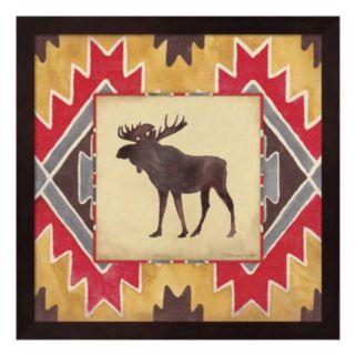 Moose Blanket Framed Wall Art