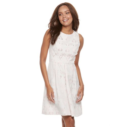 Petite Chaya Foiled Fit & Flare Dress