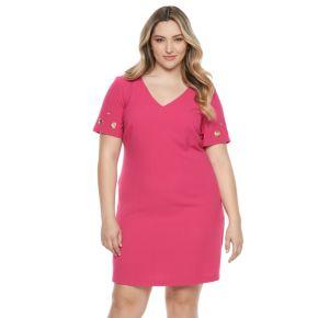 Plus Size Chaya Grommet Shift Dress