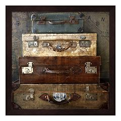 Suitcases Framed Wall Art