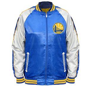 Big & Tall Majestic Golden State Warriors Satin Jacket