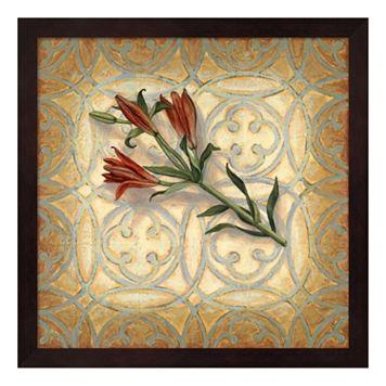 Orange Lily Framed Wall Art
