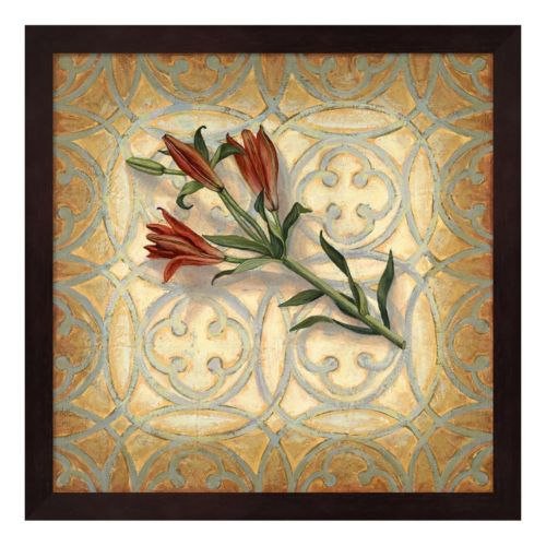 Orange Lily Framed Wall Art