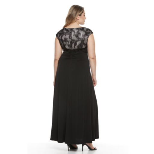 Plus Size Chaya Lace Evening Gown