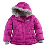 Girls 4-6x ZeroXposur Faux-Fur Trim Heavyweight Puffer Jacket