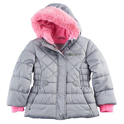 08d9db0d81e6 Girls 4-6x ZeroXposur Faux-Fur Trim Heavyweight Puffer Jacket