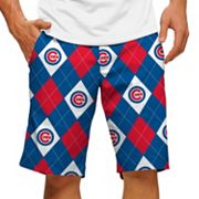 Men's Loudmouth Chicago Cubs Argyle Shorts