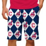 Men's Loudmouth Cleveland Indians Argyle Shorts