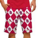 Men's Loudmouth St. Louis Cardinals Argyle Shorts