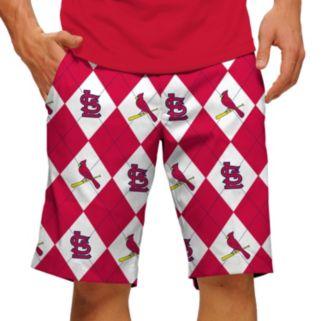 Men's Loudmouth St. Louis Cardinals Argyle Shorts