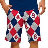 Men's Loudmouth Boston Red Sox Argyle Shorts