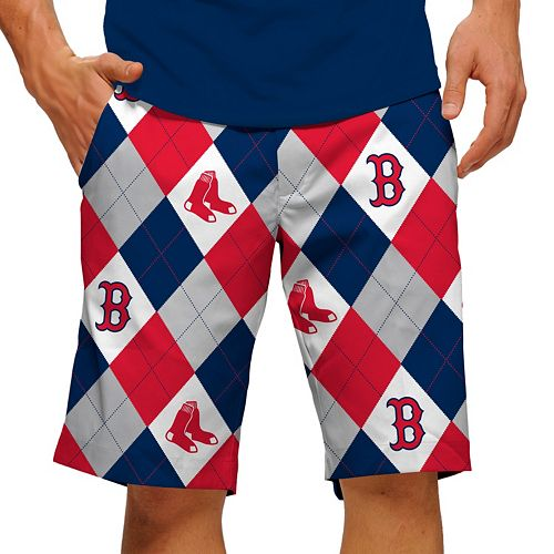 Men's Loudmouth Boston Red Sox Argyle Shorts