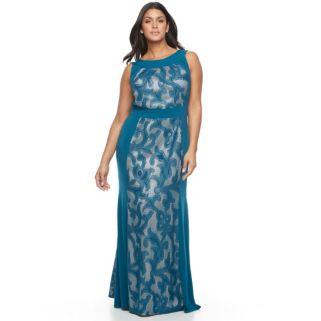 Plus Size Chaya Lace Panel Maxi Dress