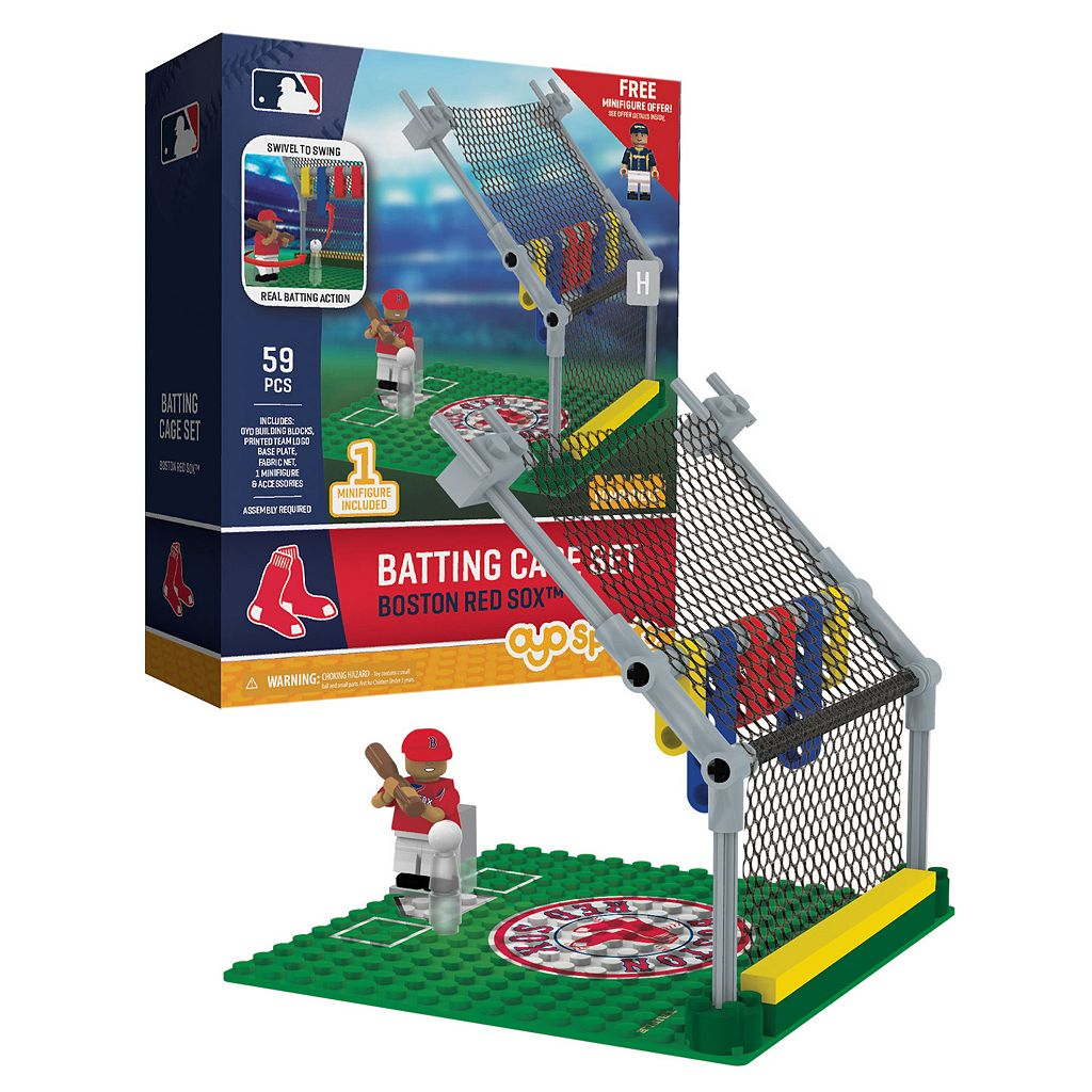 OYO Sports Boston Red Sox 59-Piece Batting Cage Set