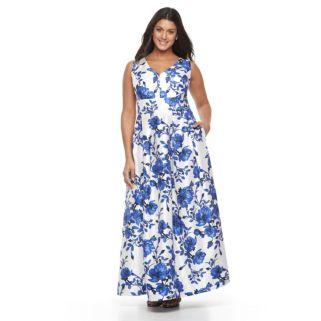 Plus Size Chaya V-Neck Floral Maxi Dress