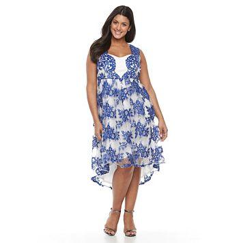 Plus Size Chaya Lace Sleeveless Fit & Flare Dress