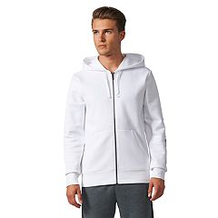Men's adidas Essentials Linear Full-Zip Fleece Hooded Jacket
