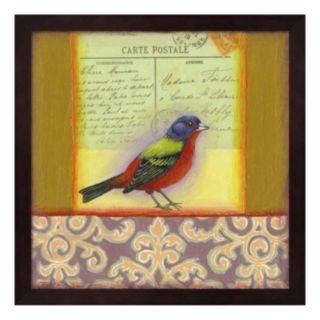 Carte Postale Bird 1 Framed Wall Art