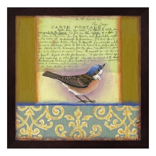 carte postale bird 3 framed wall art. Black Bedroom Furniture Sets. Home Design Ideas