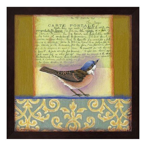 Carte Postale Bird 3 Framed Wall Art