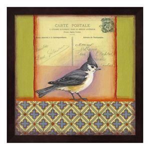 Carte Postale Bird 5 Framed Wall Art