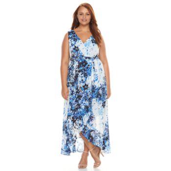 Plus Size Chaya Floral Faux-Wrap Maxi Dress
