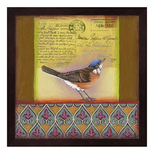 Carte Postale Bird 6 Framed Wall Art