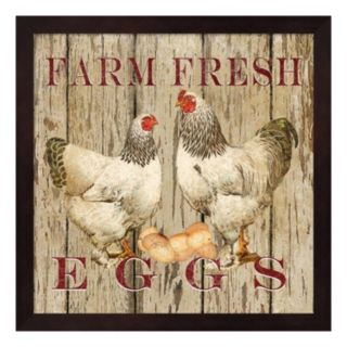 """Farm Fresh Eggs"" II Framed Wall Art"