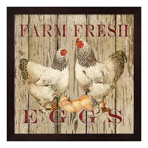 """""""Farm Fresh Eggs"""" II Framed Wall Art"""