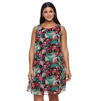 Plus Size Chaya Floral Chiffon Shift Dress