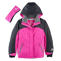 Girls 7-16 ZeroXposur Heavyweight Jessica Snowboard Jacket & Headband Set
