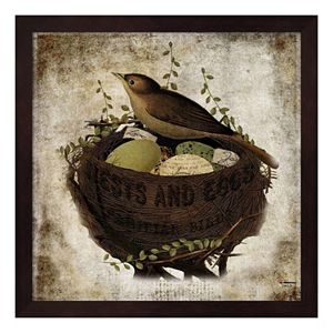 """""""Nests And Eggs"""" Framed Wall Art"""