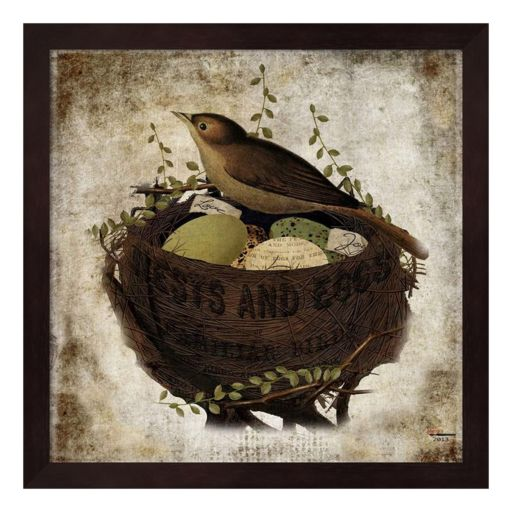 """Nests And Eggs"" Framed Wall Art"